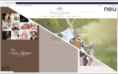 Redesign der Webseite
